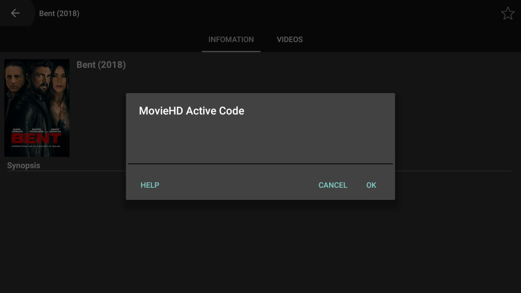Movie HD Activation Code for Fire Tv / Android TV